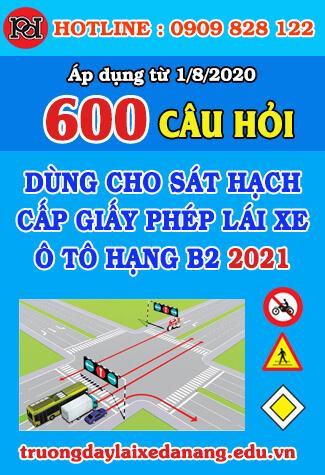 thi thử bằng lái xe b2 đà nẵng 2021 18 bộ đề 600 câu hỏi