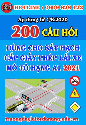 thi thử bằng lái xe máy a1 đà nẵng 2021 8 bộ đề 200 câu hỏi