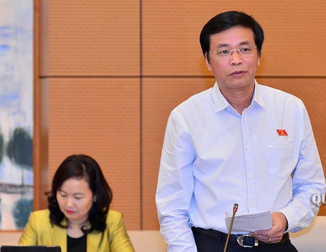 Chủ nhiệm Văn phòng Quốc hội Nguyễn Hạnh Phúc cho rằng, việc đào tạo, sát hạch, cấp giấy phép lái xe nên được thực hiện theo phương thức xã hội hóa. Ảnh: Quochoi.vn